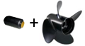 Hub and Rubex 4 Aluminum Propeller